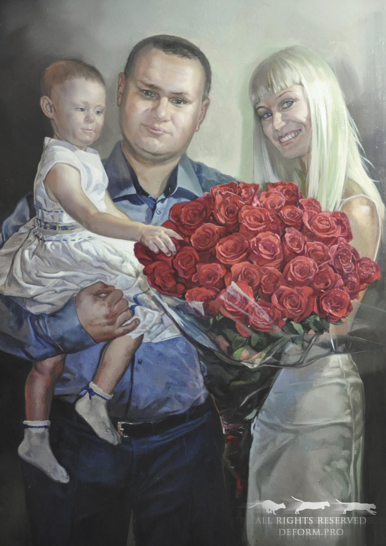 Живопись. Семейный портрет. Картины на заказ