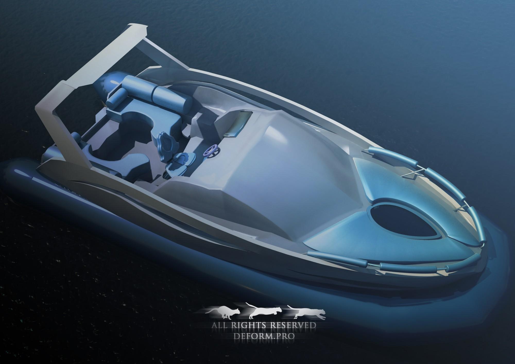 3D дизайн. Концепция лодки