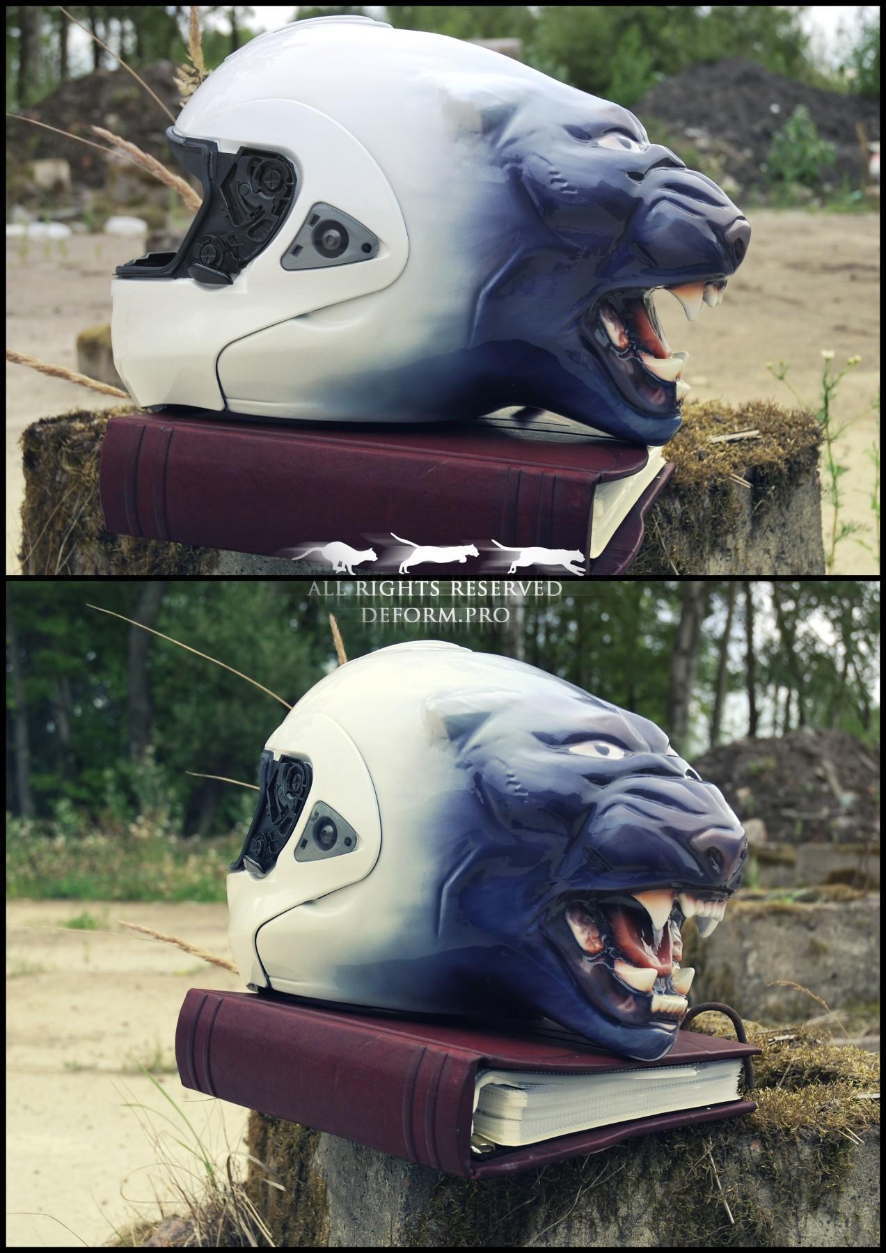 Рельеф-скульптура на шлеме
