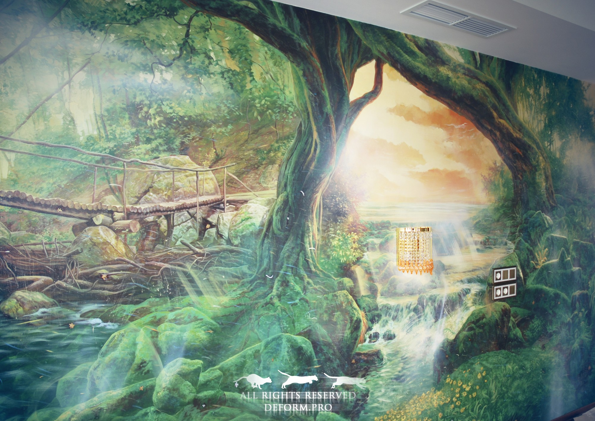 Роспись интерьера. Сказочный лес