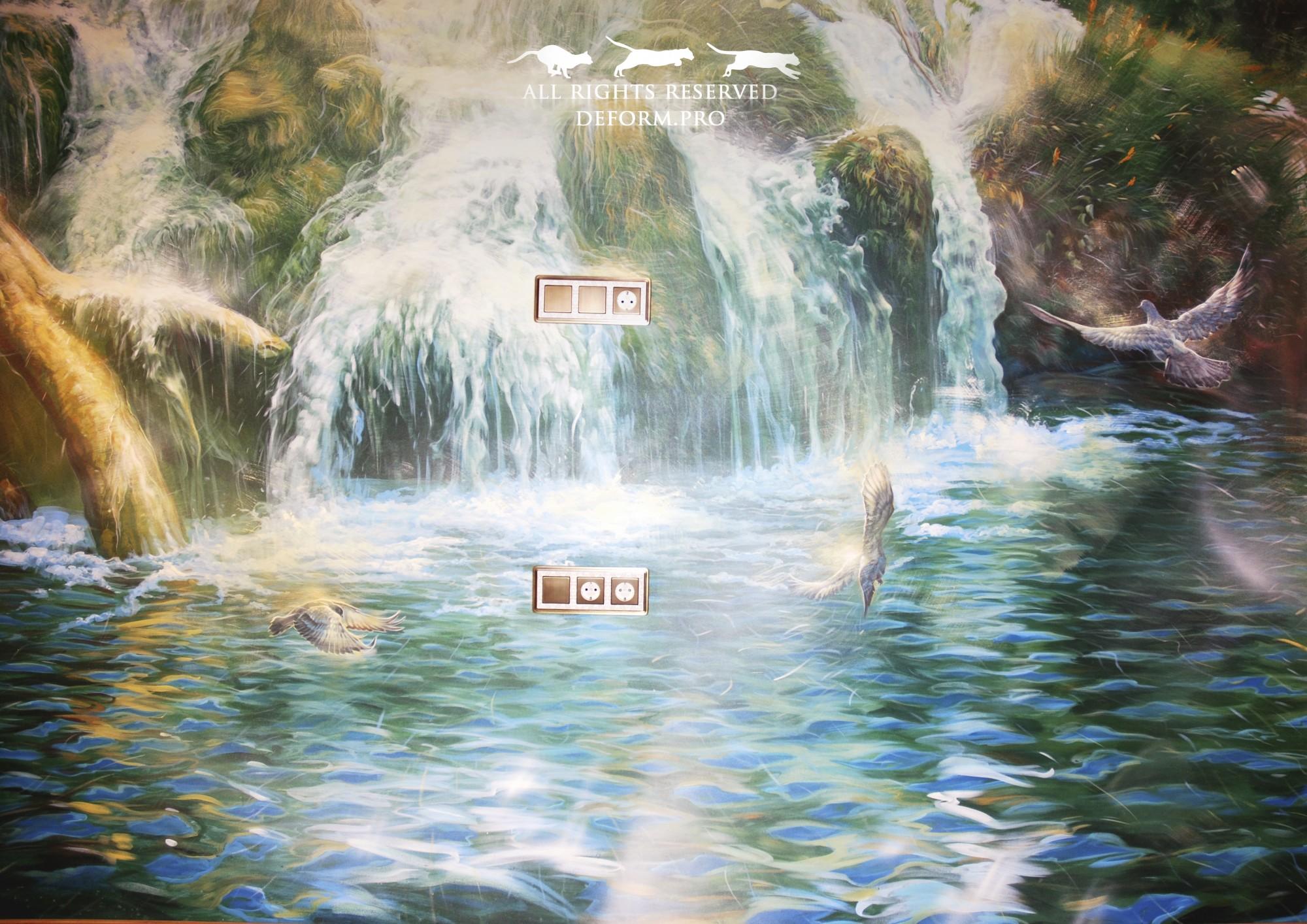 Роспись интерьера. Водопад